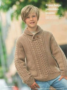 This Pin was discovered by Зул Knitting Patterns Boys, Knitting Paterns, Knitting For Kids, Baby Knitting, Kids Dress Collection, Boys Sweaters, Men Sweater, Pull Bebe, Knit Cardigan