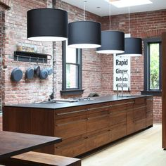 flat walnut cabinets w/ large industrial pulls! Kitchen black walnut Design Ideas, Pictures, Remodel and Decor