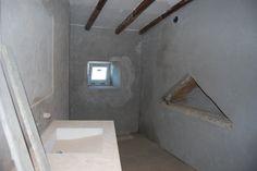 Kamer 2. de badkamer met rainshower aan het plafond.  Nu nog het kraanwerk...
