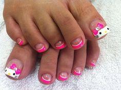 Hello Kitty Cute Toe Nail Designs