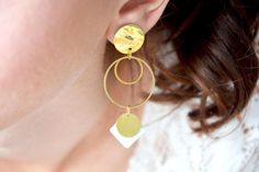 Check out this item in my Etsy shop https://www.etsy.com/ca/listing/545537543/geometric-earrings-wedding-double