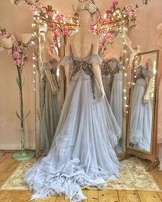Layered tulle gown with anthracite beaded detailing Fantasy Gowns, Fairy Dress, Tulle Gown, Prom Dresses, Formal Dresses, Looks Style, Beautiful Gowns, Dream Dress, Women's Fashion Dresses