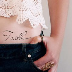 Do you have faith? Then this temporary faith tattoo is perfect for you! ................................................................................................................ WHAT YOU GET: T