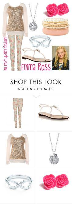 """Emma Ross"" by ipostdisneyfashion ❤ liked on Polyvore featuring Giuseppe Zanotti, Bridge Jewelry, Tiffany & Co. and Charlotte Russe"