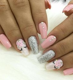 So cute my 6 year old cousin would LOVE this Ombre nails in 2019 nail designs for 6 year olds - Nail Desing Cute Acrylic Nails, Acrylic Nail Designs, Cute Nails, Nail Art Designs, Unicorn Nail Art, Unicorn Nails Designs, Perfect Nails, Gorgeous Nails, Pink Nails