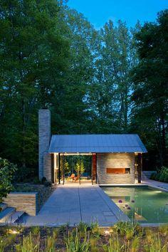 Love this little house. Nevis Pool and Garden Pavilion / Robert M. Gurney Architect