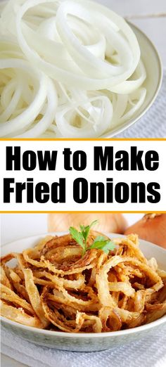 Crispy fried onions made on your stovetop or air fryer. Like French's fried onions homemade. Crispy fried onions made on your stovetop or air fryer. Like French's fried onions homemade. French Fried Onion Chicken, French Fried Onions, Bean Casserole, Casserole Recipes, Fried Onions Recipe, Appetizer Recipes, Dinner Recipes, Drink Recipes, Dinner Ideas