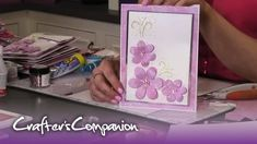Embossing and Sparkelicious Glitter - Chloe Endean Chloes Creative Cards, Stamps By Chloe, Crafters Companion, Emboss, Videos, Decorative Boxes, Card Making, Glitter, Make It Yourself