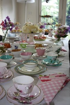 I love tea parties. Especially with mismatched tea cups.