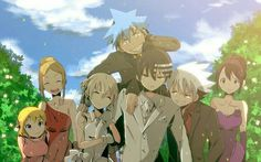 Death the Kid, Maka, couple, wedding, dress, suit, cute, Liz, Patty, Black Star, Soul, Tsubaki, outfits, funny; Soul Eater