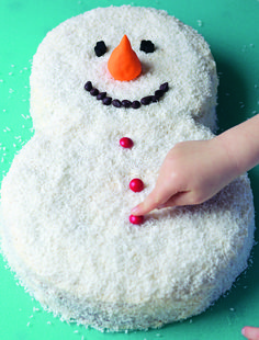 Coconut Snowman Cake | Frosty The Snowman ∙ Recipe by Ryland Peters & Small on Cut Out ...