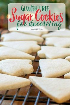Gluten Free Sugar Cookies that are perfect for cookie decorating! #glutenfree #cookiedecorating #glutenfreecookies #sugarcookies #christmascookies