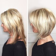 Side Parted Layered Medium Bob ❤️ Looking for youthful bang hairstyles for older women? Modern pixie cuts, simple medium and shoulder length hairstyles with bangs, and lots of ideas are here! Short Layered Haircuts, Haircuts With Bangs, Modern Haircuts, Long Layered Hair, Older Women Hairstyles, Short Bob Hairstyles, Hairstyles Haircuts, 50 Year Old Hairstyles, Medium Hair Styles