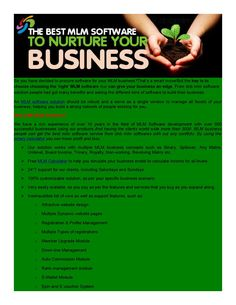 Dmlm0003 the best mlm solution that can nurture your busines