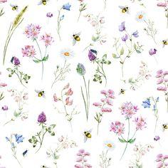 Wild Flowers Watercolor Pattern