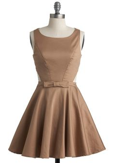 Found this and I really want it for my cousin's wedding in the fall!  Classic Twist Dress in Khaki #Modcloth