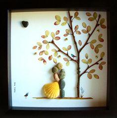 Arte único del guijarro regalo boda boda regalo por MedhaRode