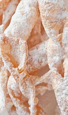 Polish Angel Wings (Chrusciki) - light as a feather pastry cookies that are lovely to eat as is or served with fresh fruit, ice cream or puddings. ❊My Mother used to make these fried cookies! Slovak Recipes, Ukrainian Recipes, Hungarian Recipes, Russian Recipes, Pastry Recipes, Ukrainian Food, Cookie Desserts, Just Desserts, Cookie Recipes
