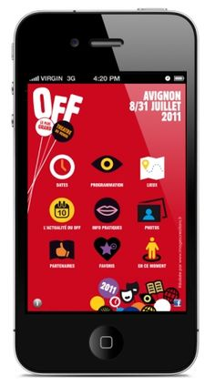 Festival Off d'Avignon, l'application iPhone