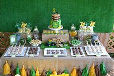 Farm tractor dessert table