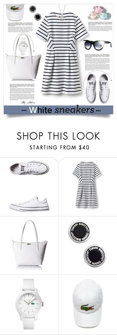 """So Fresh: White Sneakers"" by jelenalazarevicpo ❤ liked on Polyvore featuring Converse, Lacoste L!VE, Lacoste, Marc Jacobs and Blue Nile"