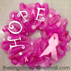 Create your own mesh wreath or order yours at: thekingofmesh@hotmail .com - Introducing my newest #meshwreath from latest Breast Cancer Awareness collection. I got all my supplies at @MichaelsStores #craftssupplies #decomesh #custom #mesh #michaelsstores @thekingofmesh #homedecor #polydecomesh #hope #pink #BCW #pinkmesh #pinkribbon #survivor