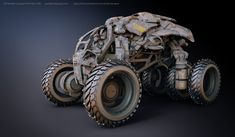 Off Roader Concept WIP, Paul Massey on ArtStation at https://www.artstation.com/artwork/off-roader-concept-wip