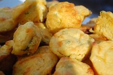 Green Chili Cornbread Muffins, Paula Deen style... however, the Jiffy mix with added green chilies and corn come out very tasty as well. I haven't tried it adding cheese yet tho'.