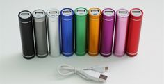 Portable External Cell Phone chargers 9 colors!