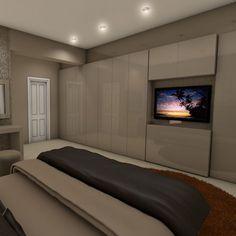 bedroom wardrobe with tv - Google Search
