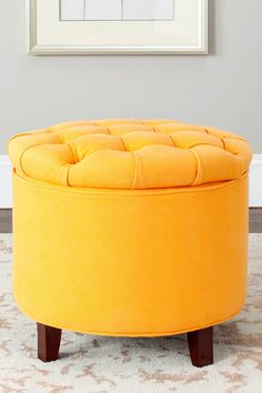 love it! Tangerine tufted stool