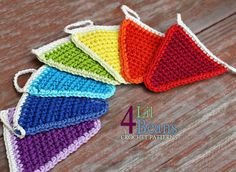 Crochet Pattern : Crochet Garland Crochet Birthday by 4LilBeans