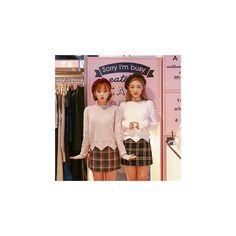 Plaid Wool Blend Mini Skirt ($38) ❤ liked on Polyvore featuring skirts, mini skirts, women, tartan skirt, tartan mini skirts, short plaid skirt, tartan plaid mini skirt and plaid miniskirts