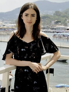 Lily Collins attends 'To The Bone' Photocall at the Ischia Global Festival in Ischia, Italy on July, 15.