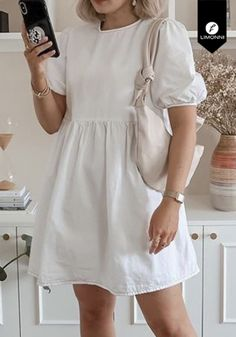 Maternity Fashion Dresses, Casual Dresses, Short Dresses, Fashion Outfits, Frock Models, Need Supply, Cotton Frocks, Frock For Women, Little White Dresses