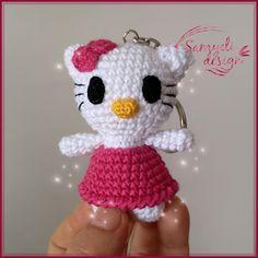 Samyelinin Örgüleri: HELLO KİTTY KEYCHAİN ( Free Pattern) Doll Patterns Free, Free Pattern, Crochet Motif, Crochet Patterns, Hallo Kitty, Hello Kitty Keychain, Knitted Animals, How To Start Knitting, Amigurumi Doll