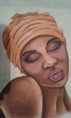 Negra Africa Painting, Black Art Pictures, Alternative Art, Afro Art, Dope Art, Classical Art, Female Portrait, African Art, Cute Drawings