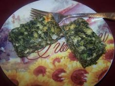 Spinach Feta and Dill Squares