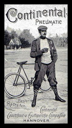 Continental Pneumatic ad from Velo Vintage, Vintage Cycles, Vintage Bikes, Vintage Ads, Old Bicycle, Bicycle Race, Illustration Photo, Illustrations, Heidelberg University