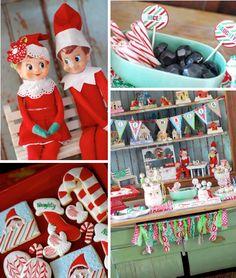 Elf on the Shelf holiday Christmas party planning via Kara's Party Ideas www.KarasPartyIdeas.com