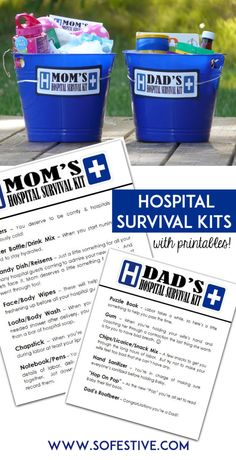 Gifts for New Moms and Dads - Hospital Survival Kits - So Festive!
