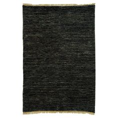 Hand-knotted jute rug.   Product: RugConstruction Material: JuteColor: BlackFeatures...