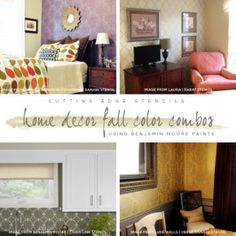 Home Decor Fall Color Combinations Using Benjamin Moore Paints