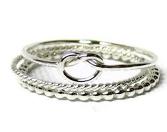 Stacking Rings Infinity Ring With CZ Stones and by CristineLukas