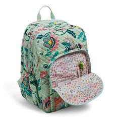 Image of Iconic XL Campus Backpack in Mint Flowers Pretty Backpacks, Mint Flowers, Cute Bags, School Backpacks, Vera Bradley Backpack, Backpack Bags, Handbags, Purses, Accessories