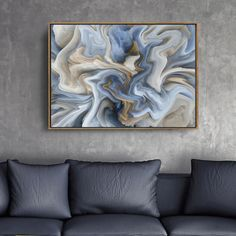 Blue Marble Abstraction Wall Art Fine Art Canvas Prints Pastel Color Contemporary Picture For Office Interior Painting For Living Room Modern Home Decor Abstract Wall Art, Canvas Wall Art, Canvas Art Prints, Whale Canvas, Gold Wall Art, Wall Art Prints, Poster Prints, Texture Painting On Canvas, Pineapple Art