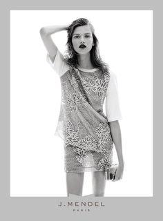 Bette Franke stars in the J. Mendel S/S 14 campaign shot by Daniel Jackson. Spring Fashion, High Fashion, Womens Fashion, Bette Franke, Hannah Murray, Daniel Jackson, Fashion Advertising, Spring Summer, Beauty