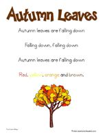 homeschool learning fun fall ideas with songs, printables:apples, leaves, pumpkins Fall Preschool Activities, Preschool Songs, Preschool Lessons, Kids Songs, Autumn Leaves Song, School Rhymes, Grandparents Day Crafts, Kindergarten Music, Beginning Of The School Year