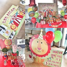 Baby lion, circus party, kokulu tasarım, fisherprice party theme, circus