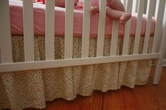 ruffled crib skirt tutorial